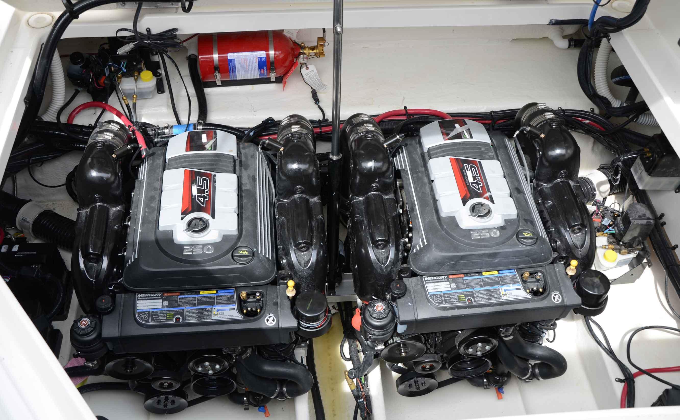 New Mercruiser 45l V6 250 Hp Simple Compact Strong Boatmag 5 0 Tachometer Wiring Mercury 45 L Cv
